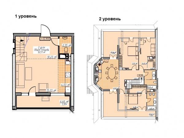 Планировки многокомнатных квартир 161.11 м^2